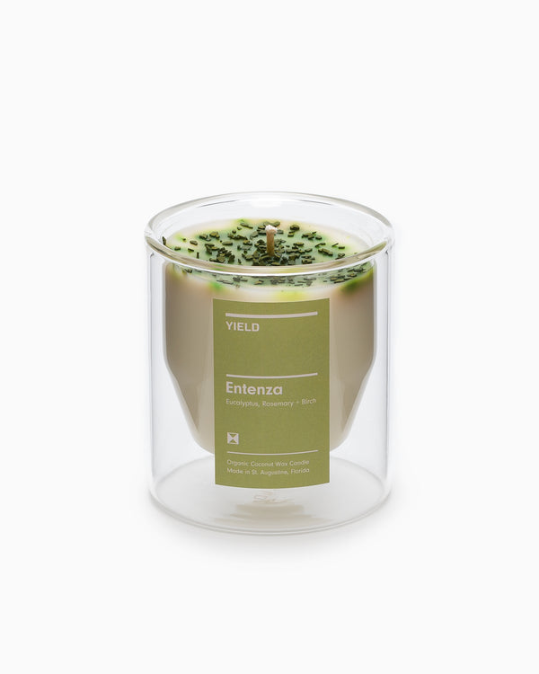 Yield - Entenza Double Walled Glass Candle