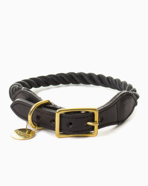 Found My Animal - Black Rope Collar