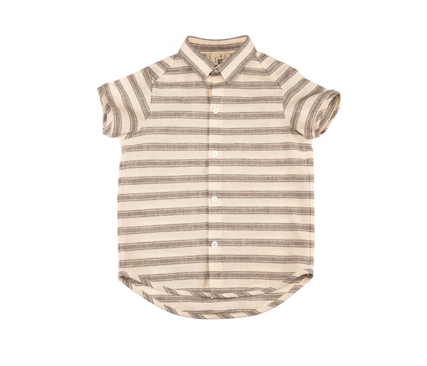 S/S Shirt (Natural/Blk Stripe)