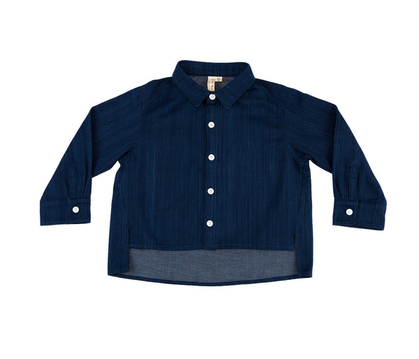 HI-LO Sleeve Shirt (Denim)