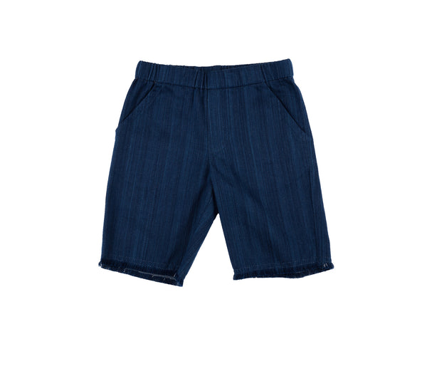 Raw Edge Hem Shorts (Denim)