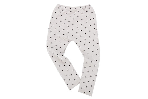Drop Pants-Triangle Print