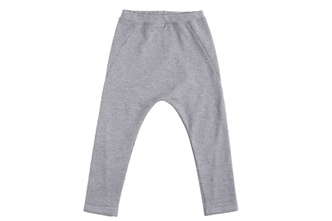 Drop Pants-Grey Heather
