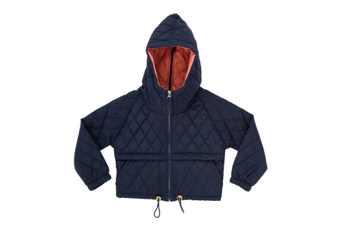 Quilted Jacket-Midnight