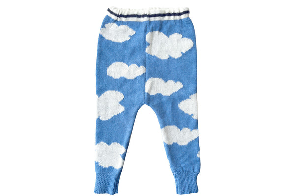 Cloud Sweater Pants-Sky Blue