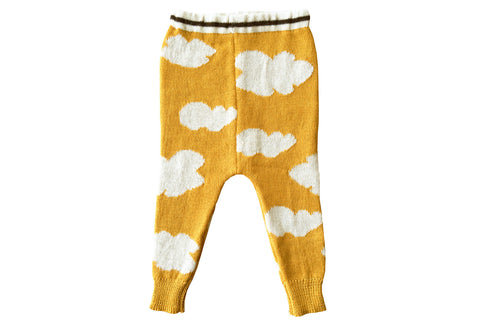 Cloud Sweater Pants-Mustard