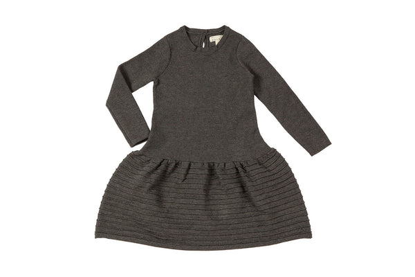 Drop Waist Dress-Charcoal Heather