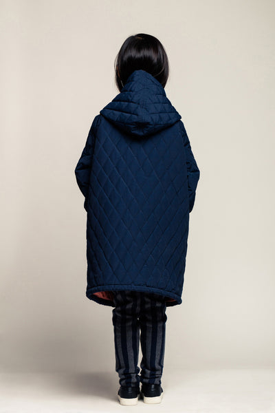 Quilted Anorak-Midnight