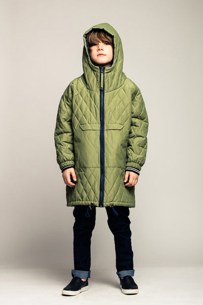 Quilted Anorak-Winter Green
