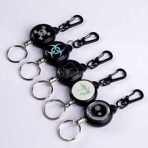 Utility Graphic Designed Retractable Steel Wire Key Ring
