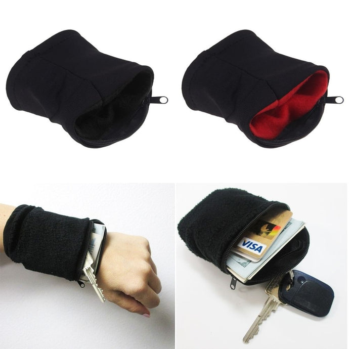 Wrist Band Zipper Pouch (1 Piece)