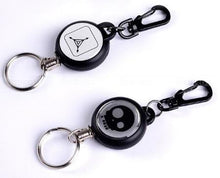Load image into Gallery viewer, Utility Graphic Designed Retractable Steel Wire Key Ring
