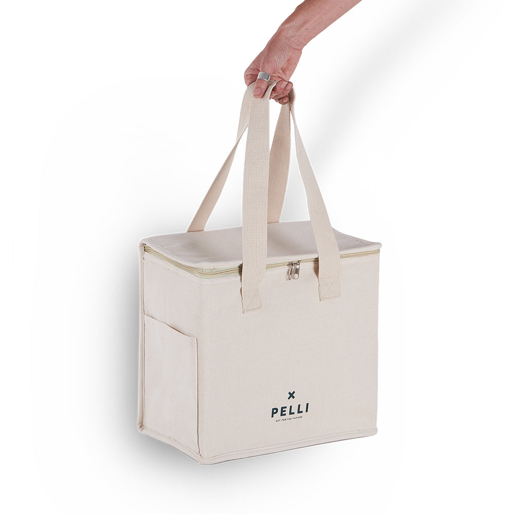 'OK Chill' Picnic Cooler Bag - Jute