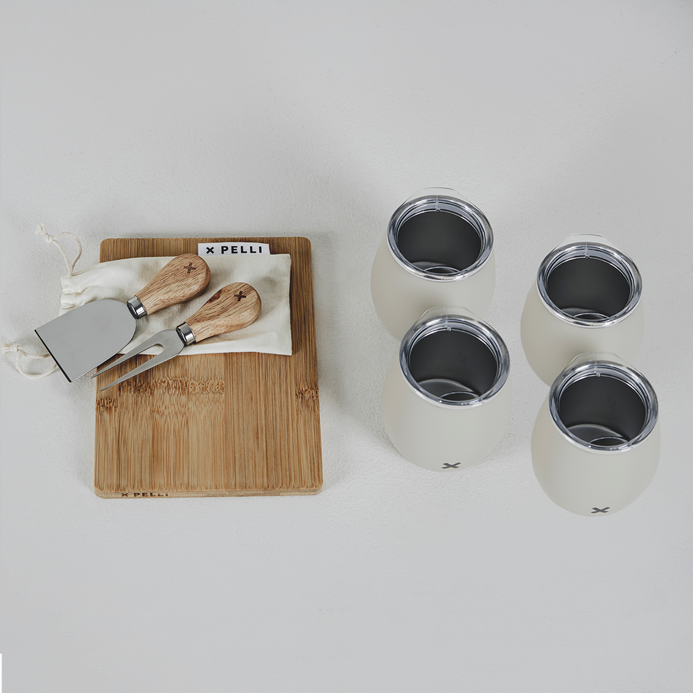 Board, Knife and Tumbler Set