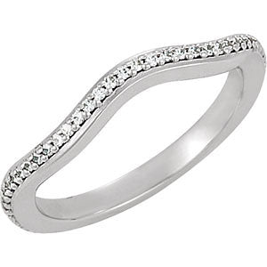 14K White Band Mounting - Siddiqui Jewelers