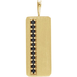 14K Yellow 1/5 CTW Black Diamond Pendant - Siddiqui Jewelers
