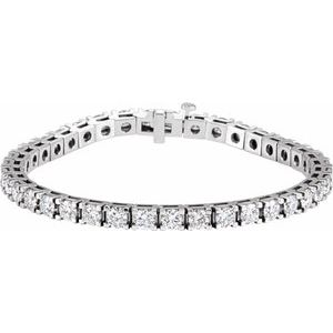"14K White 9 1/6 CTW Diamond Line 7 1/4"" Bracelet"