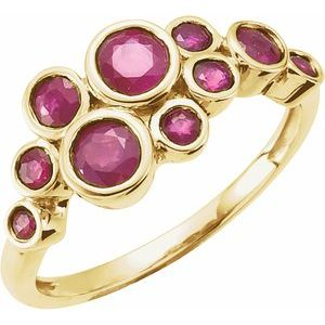 14K Yellow Ruby Bezel-Set Ring - Siddiqui Jewelers