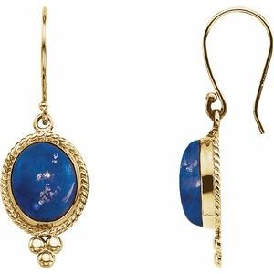 Lapis Cabochon Earrings - Siddiqui Jewelers