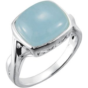 Sterling Silver Milky Aquamarine Ring - Siddiqui Jewelers