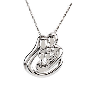 "Sterling Silver 3 Child Family 18"" Necklace - Siddiqui Jewelers"