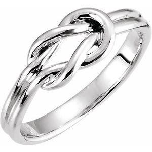 Sterling Silver 6 mm Knot Ring - Siddiqui Jewelers