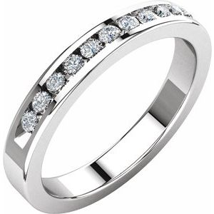 1/4 CTW Diamond Classic Channel-Set Anniversary Band - Siddiqui Jewelers