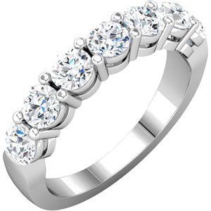 14K White 1 3/8 CTW Diamond Anniversary Band - Siddiqui Jewelers