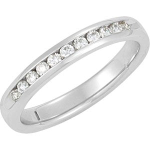 1/4 CTW Diamond Channel-Set Anniversary Band - Siddiqui Jewelers
