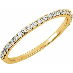 14K Yellow 1/4 CTW Diamond Band - Siddiqui Jewelers