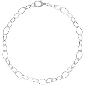 "Sterling Silver Link 18"" Necklace - Siddiqui Jewelers"