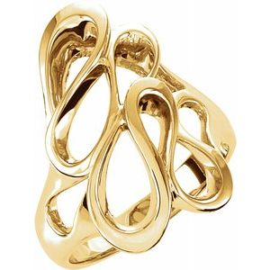14K Yellow 22 mm Freeform Ring - Siddiqui Jewelers