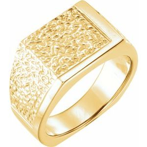 Men's Nugget Ring - Siddiqui Jewelers