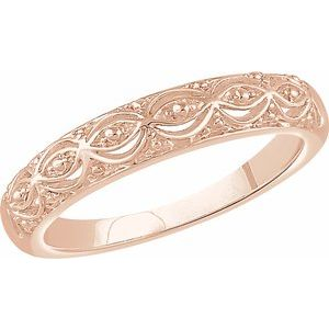 14K Rose Beaded Ring - Siddiqui Jewelers