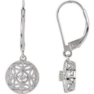 1/10 CTW Diamond Filigree Lever Back Earrings - Siddiqui Jewelers