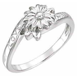 14K White Love Waits Chastity Ring - Siddiqui Jewelers