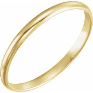 14K Yellow 1.6 mm Youth Band Size 2 - Siddiqui Jewelers
