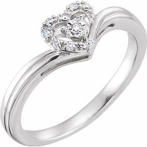 10K White .06 CTW Diamond Heart Promise Ring - Siddiqui Jewelers