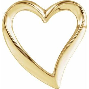 14K Yellow Heart Slide Pendant - Siddiqui Jewelers