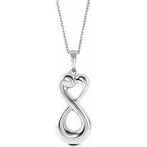 "10K White Infinite Love Ash Holder 18"" Necklace - Siddiqui Jewelers"