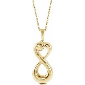 "10K Yellow Infinite Love Ash Holder 18"" Necklace - Siddiqui Jewelers"
