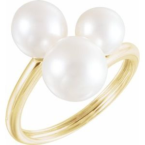 Three-Stone Pearl Ring - Siddiqui Jewelers