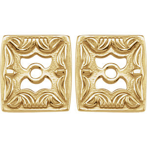 14K Yellow Metal Fashion Earring Jackets - Siddiqui Jewelers
