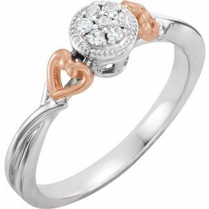 10K White & Rose 1/10 CTW Diamond Promise Ring - Siddiqui Jewelers