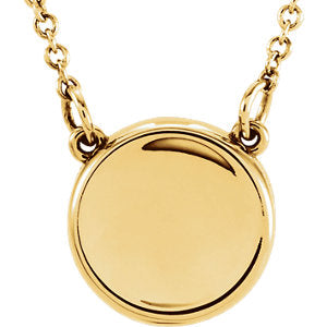 "14K Yellow Concave 18"" Necklace - Siddiqui Jewelers"