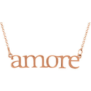 "14K Rose ""Amore"" 16.25"" Necklace - Siddiqui Jewelers"