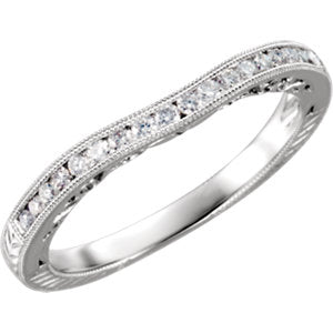 Platinum 1/6 CTW Diamond Band Size 6 - Siddiqui Jewelers