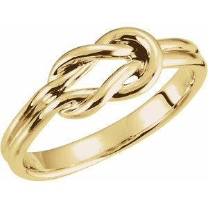 14K Yellow 6 mm Knot Ring - Siddiqui Jewelers