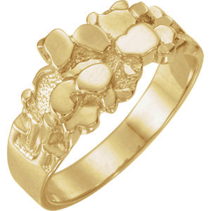 14K Yellow Nugget Ring Mounting - Siddiqui Jewelers