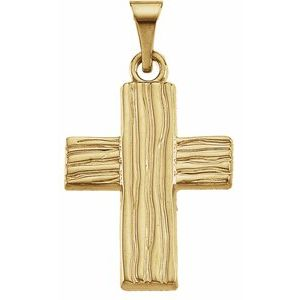 10K Yellow 18x14.5 mm The Rugged Cross® Pendant - Siddiqui Jewelers